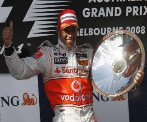Puzle Lewis Hamilton no pódium