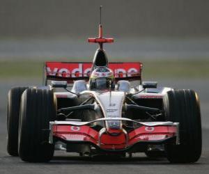 Puzle Lewis Hamilton pilota seu F1