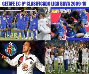 Puzle Liga BBVA Getafe FC 6 classificados 2009-2010