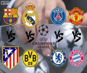 Puzle Liga dos Campeões - UEFA Champions League 2013-14 Quartas-de-final