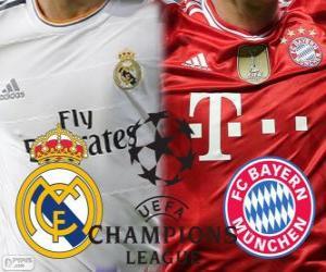 Puzle Liga dos Campeões - UEFA Champions League 2013-14 meia-final, Real Madrid - Bayern