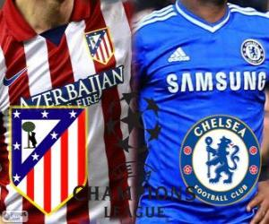 Puzle Liga dos Campeões - UEFA Champions League 2013-14 meia-final, Atlético - Chelsea
