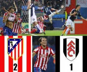 Puzle Liga Europa 2009-10 Atlético Madrid Final 2 - Fulham FC 1