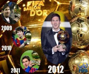 Puzle Lionel Messi Ballon d'Or da FIFA 2012
