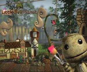 Puzle LittleBigPlanet, video jogo onde os personagens são bonecos chamados Sackboys ou Sackgirls
