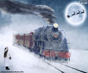 Puzle Locomotiva a vapor Natal
