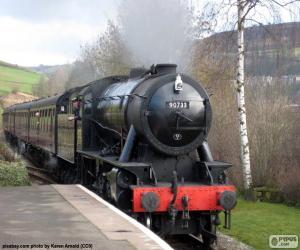 Puzle Locomotiva a vapor