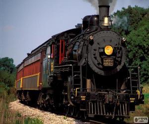 Puzle Locomotiva de um trem a vapor