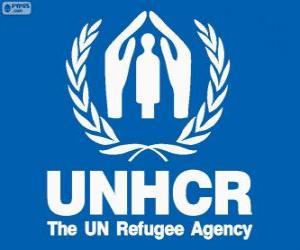 Puzle Logo ACNUR, Comissariado das Nações Unidas para os Refugiados