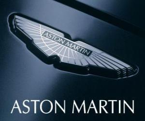 Puzle Logo Aston Martin, fabricante de automóveis britânico