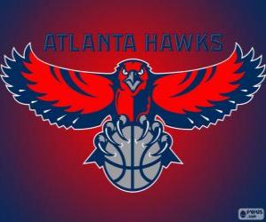 Puzle Logo Atlanta Hawks, time da NBA. Divisão Sudeste,ConferênciaLeste