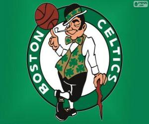 Puzle Logo Boston Celtics, time da NBA. Divisão do Atlântico,ConferênciaLeste