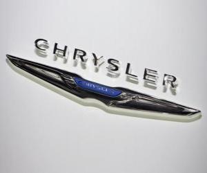 Puzle Logo Chrysler. Marca de carros dos Estados Unidos da América