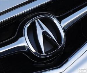 Puzle Logo da Acura, marca de automóveis japoneses