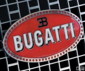 Puzle Logo da Bugatti, marca francesa de origem italiana
