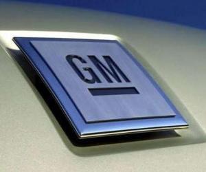 Puzle Logo da GM ou General Motors. Marca de automóveis nos EUA