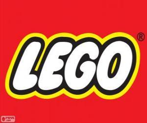 Puzle Logo da Lego, brinquedos de construção