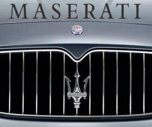 Puzle Logo da Maserati, marca italiana de carros desportivos