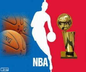 Puzle Logo da NBA, liga profissional de basquete dos Estados Unidos da América