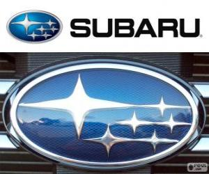 Puzle Logo da Subaru, marca de automóveis japoneses