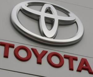 Puzle Logo da Toyota. Produtora japonesa de automóveis