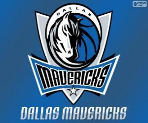 Puzle Logo Dallas Mavericks, equipe da NBA. Divisão Sudoeste,ConferênciaOeste