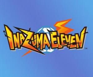 Puzle Logo de Inazuma Eleven. Nintendo videogame e anime manga