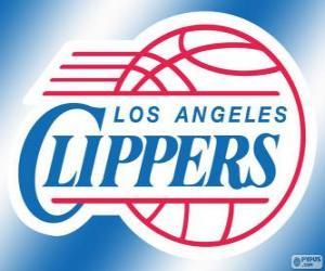 Puzle Logo de Los Angeles Clippers, time da NBA. Divisão do Pacífico, Conferência Oeste
