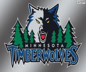 Puzle Logo de Minnesota Timberwolves, time da NBA. Divisão Noroeste,ConferênciaOeste