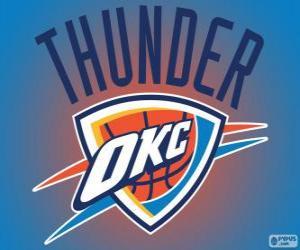 Puzle Logo de Oklahoma City Thunder, equipe da NBA. Divisão Noroeste,ConferênciaOeste