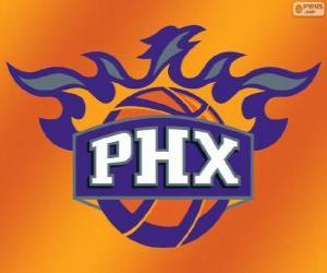 Puzle Logo de Phoenix Suns, equipe da NBA. Divisão do Pacífico, ConferênciaOeste