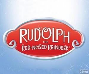 Puzle Logo de Rudolph a Rena do Nariz Vermelho