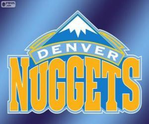 Puzle Logo Denver Nuggets equipe da NBA. Divisão Noroeste,ConferênciaOeste