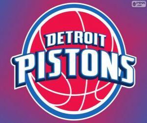 Puzle Logo Detroit Pistons, equipa da NBA. Divisão Central,ConferênciaLeste