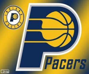 Puzle Logo do Indiana Pacers, time da NBA. Divisão Central,ConferênciaLeste