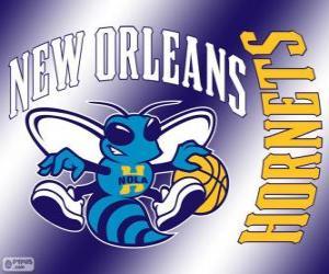 Puzle Logo do New Orleans Hornets, equipe da NBA. Divisão Sudoeste,ConferênciaOeste