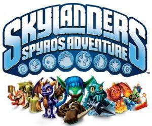 Puzle Logo do video game do dragão Spyro, Skylanders: As aventuras de Spyro