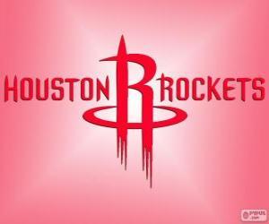 Puzle Logo Houston Rockets, equipe da NBA. Divisão Sudoeste,ConferênciaOeste