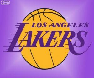Puzle Logo Los Angeles Lakers, equipe da NBA, Divisão do Pacífico, ConferênciaOeste