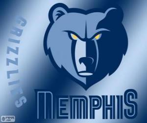 Puzle Logo Memphis Grizzlies equipe da NBA. Divisão Sudoeste,ConferênciaOeste