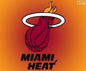 Puzle Logo Miami Heat, time da NBA. Divisão Sudeste,ConferênciaLeste