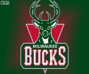 Puzle Logo Milwaukee Bucks, time da NBA. Divisão Central,ConferênciaLeste