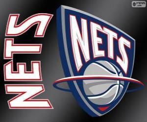 Puzle Logo New Jersey Nets, equipa da NBA. Divisão do Atlântico,ConferênciaLeste