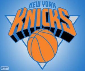Puzle Logo New York Knicks, time da NBA. Divisão do Atlântico,ConferênciaLeste