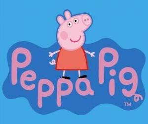 Puzle Logo Peppa Pig, A Porquinha Peppa