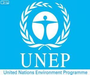 Puzle Logo PNUMA, Programa das Nações Unidas para o Meio Ambiente