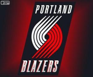 Puzle Logo Portland Trail Blazers, time da NBA. Divisão Noroeste,ConferênciaOeste