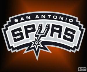 Puzle Logo San Antonio Spurs, time da NBA. Divisão Sudoeste,ConferênciaOeste