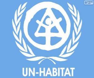 Puzle Logo UN-HABITAT, Programa das Nações Unidas para os Assentamentos Humanos