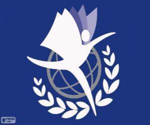 Puzle Logo UNITAR, Instituto das Nações Unidas para Treinamento e Pesquisa